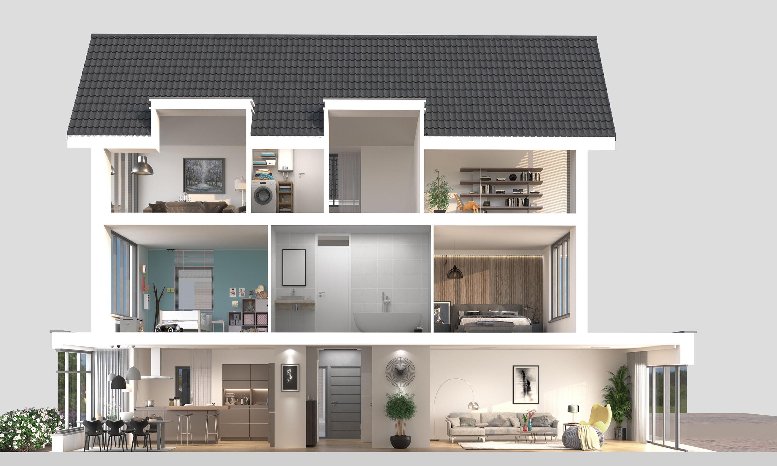 2d 3d Floorplans Dreamvisuals 3d Visualisatie Artist Impressions 3d Animatie